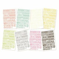 Simple Stories - SNAP Color Vibe Collection - Lights - Cardstock Stickers - Letters