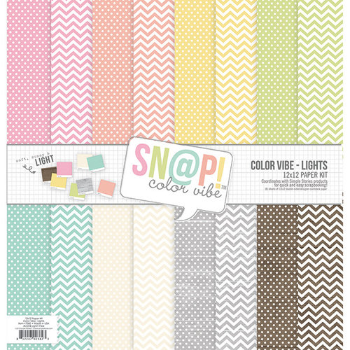 Simple Stories - SNAP Color Vibe Collection - Lights - 12 x 12 Paper Pack