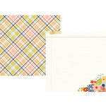 Simple Stories - Bloom and Grow Collection - 12 x 12 Double Sided Paper - Bee Happy