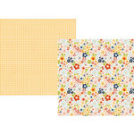 Simple Stories - Bloom and Grow Collection - 12 x 12 Double Sided Paper - Chin Up, Buttercup