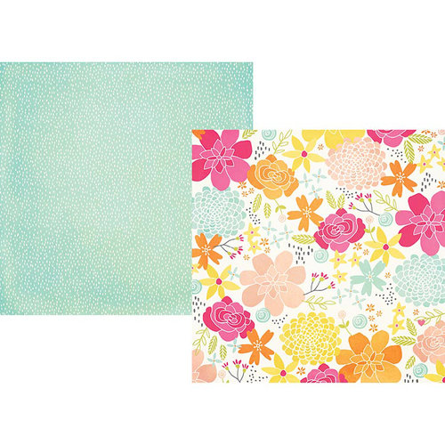 Simple Stories - Sunshine and Happiness Collection - 12 x 12 Double Sided Paper - Happy Day