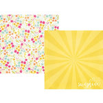 Simple Stories - Sunshine and Happiness Collection - 12 x 12 Double Sided Paper - Shine Bright