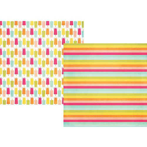 Simple Stories - Sunshine and Happiness Collection - 12 x 12 Double Sided Paper - Oh Yeah