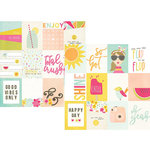 Simple Stories - Sunshine and Happiness Collection - 12 x 12 Double Sided Paper - 3 x 4 Journaling Card Elements