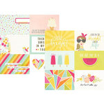 Simple Stories - Sunshine and Happiness Collection - 12 x 12 Double Sided Paper - 4 x 6 Horizontal Journaling Elements