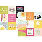 Simple Stories - Sunshine and Happiness Collection - 12 x 12 Double Sided Paper - 4 x 4 and 4 x 6 Vertical Journaling Elements