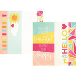 Simple Stories - Sunshine and Happiness Collection - 12 x 12 Double Sided Paper - 2 x 12, 4 x 12 and 6x12 Elements