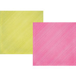 Simple Stories - Sunshine and Happiness Collection - 12 x 12 Double Sided Paper - Berry Stripe
