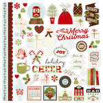 Simple Stories - Classic Christmas Collection - 12 x 12 Cardstock Stickers - Fundamentals