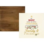 Simple Stories - Classic Christmas Collection - 12 x 12 Double Sided Paper with Foil Accents - Be Merry