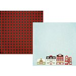 Simple Stories - Classic Christmas Collection - 12 x 12 Double Sided Paper - City Sidewalks
