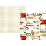 Simple Stories - Classic Christmas Collection - 12 x 12 Double Sided Paper with Foil Accents - Holiday Wishes