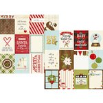 Simple Stories - Classic Christmas Collection - 12 x 12 Double Sided Paper with Foil Accents - 3 x 4 Journaling Card Elements