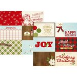 Simple Stories - Classic Christmas Collection - 12 x 12 Double Sided Paper with Foil Accents - 4 x 6 Horizontal Journaling Elements