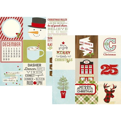 Simple Stories - Classic Christmas Collection - 12 x 12 Double Sided Paper - 4 x 4 and 4 x 6 Vertical Journaling Elements