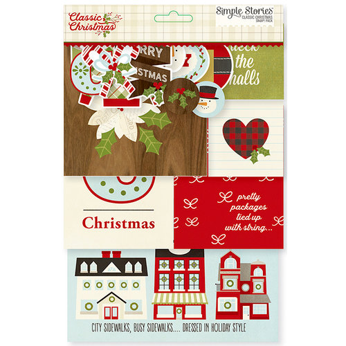 Simple Stories - SNAP Collection - SNAP Pack - Classic Christmas
