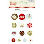 Simple Stories - Classic Christmas Collection - Decorative Brads