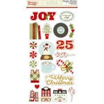 Simple Stories - Classic Christmas Collection - Chipboard Stickers with Foil Accents