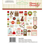 Simple Stories - Classic Christmas Collection - Bits and Pieces with Foil Accents