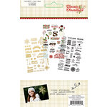 Simple Stories - Classic Christmas Collection - Clear Stickers with Foil Accents