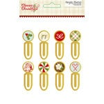 Simple Stories - Classic Christmas Collection - Epoxy Metal Clips
