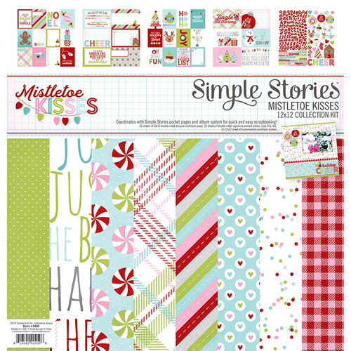 Simple Stories - Mistletoe Kisses Collection - Christmas - 12 x 12 Collection Kit