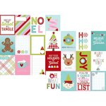 Simple Stories - Mistletoe Kisses Collection - Christmas - 12 x 12 Double Sided Paper with Foil Accents - 3 x 4 Journaling Card Elements