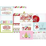 Simple Stories - Mistletoe Kisses Collection - Christmas - 12 x 12 Double Sided Paper with Foil Accents - 4 x 6 Horizontal Journaling Elements