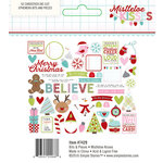 Simple Stories - Mistletoe Kisses Collection - Christmas - Bits and Pieces with Foil Accents