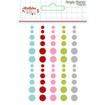 Simple Stories - Mistletoe Kisses Collection - Christmas - Enamel Dots
