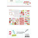 Simple Stories - Mistletoe Kisses Collection - Christmas - Cardstock Stickers