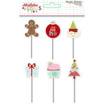 Simple Stories - Mistletoe Kisses Collection - Christmas - Decorative Clips