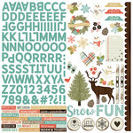 Simple Stories - Winter Wonderland Collection - 12 x 12 Cardstock Stickers - Combo