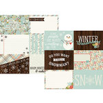 Simple Stories - Winter Wonderland Collection - 12 x 12 Double Sided Paper - 4 x 6 Horizontal Journaling Elements