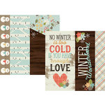 Simple Stories - Winter Wonderland Collection - 12 x 12 Double Sided Paper - 2 x 12, 4 x 12 and 6 x 12 Elements