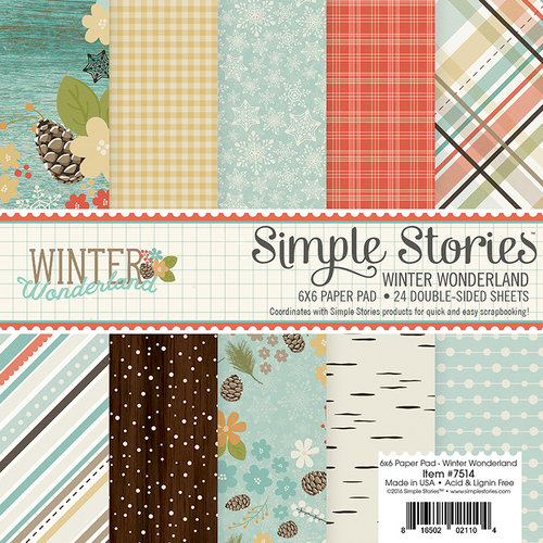 Simple Stories - Winter Wonderland Collection - 6 x 6 Paper Pad