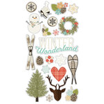 Simple Stories - Winter Wonderland Collection - Chipboard Stickers