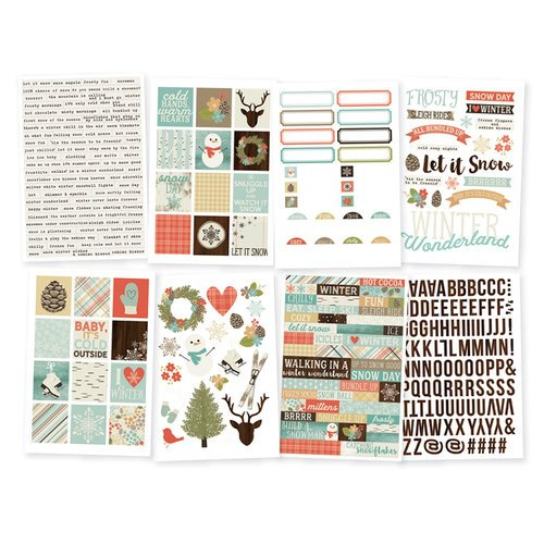 Simple Stories - Winter Wonderland Collection - Cardstock Stickers