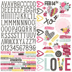 Simple Stories - Love and Adore Collection - 12 x 12 Cardstock Stickers - Combo