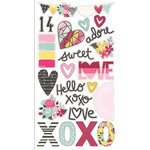 Simple Stories - Love and Adore Collection - Chipboard Stickers