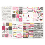 Simple Stories - Love and Adore Collection - Cardstock Stickers