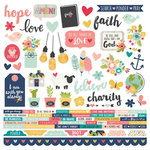 Simple Stories - Faith Collection - 12 x 12 Cardstock Stickers - Combo