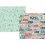 Simple Stories - Faith Collection - 12 x 12 Double Sided Paper - Believe