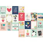 Simple Stories - Faith Collection - 12 x 12 Double Sided Paper - 3 x 4 Journaling Card Elements