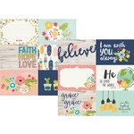 Simple Stories - Faith Collection - 12 x 12 Double Sided Paper - 4 x 6 Horizontal Elements