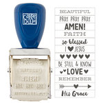 Simple Stories - Carpe Diem Collection - Faith - Roller Stamp