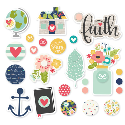 Simple Stories - Faith Collection - Decorative Brads
