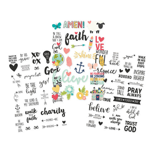 Simple Stories - Faith Collection - Clear Stickers