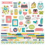 Simple Stories - Domestic Bliss Collection - 12 x 12 Cardstock Stickers - Combo