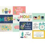 Simple Stories - Domestic Bliss Collection - 12 x 12 Double Sided Paper - 4 x 6 Horizontal Elements